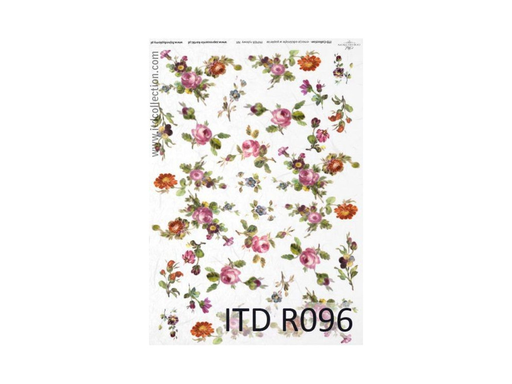 Papier do decoupage A4 - ITD Collection - ryżowy, R096