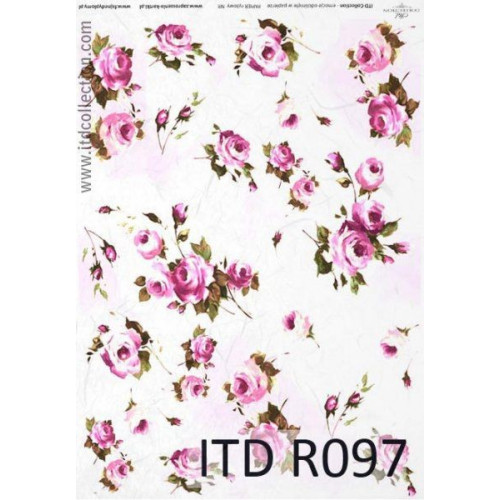 Papier ryżowy decoupage ITD R097