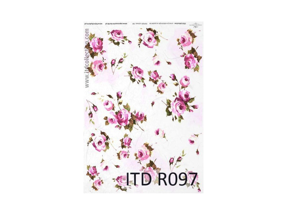 Papier do decoupage A4 - ITD Collection - ryżowy, R097