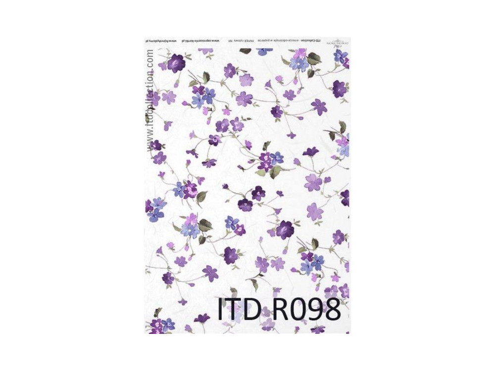 Decoupage paper A4 - ITD Collection - rice, R098