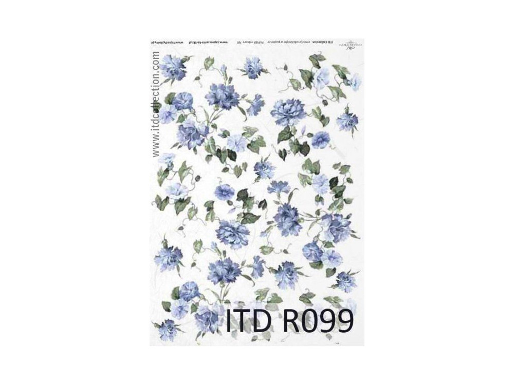 Decoupage paper A4 - ITD Collection - rice, R099