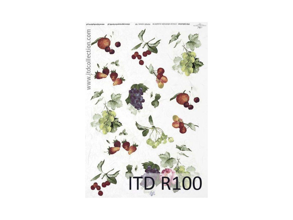 Papier do decoupage A4 - ITD Collection - ryżowy, R100