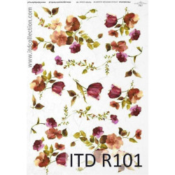 Papier do decoupage A4 - ITD Collection - ryżowy, R101