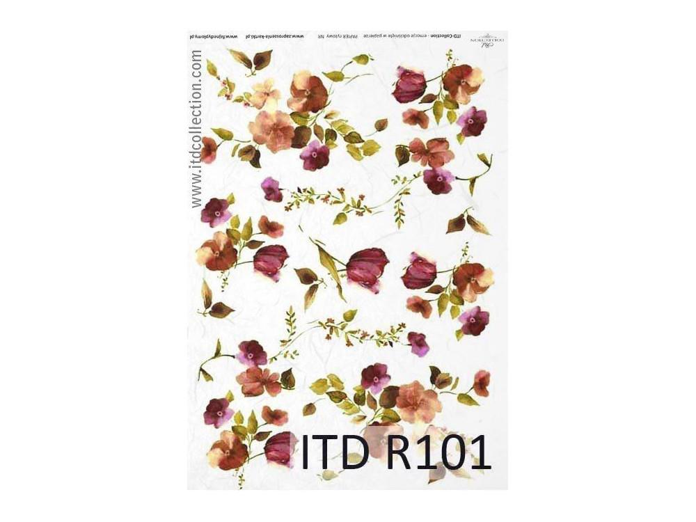 Papier ryżowy decoupage ITD R101
