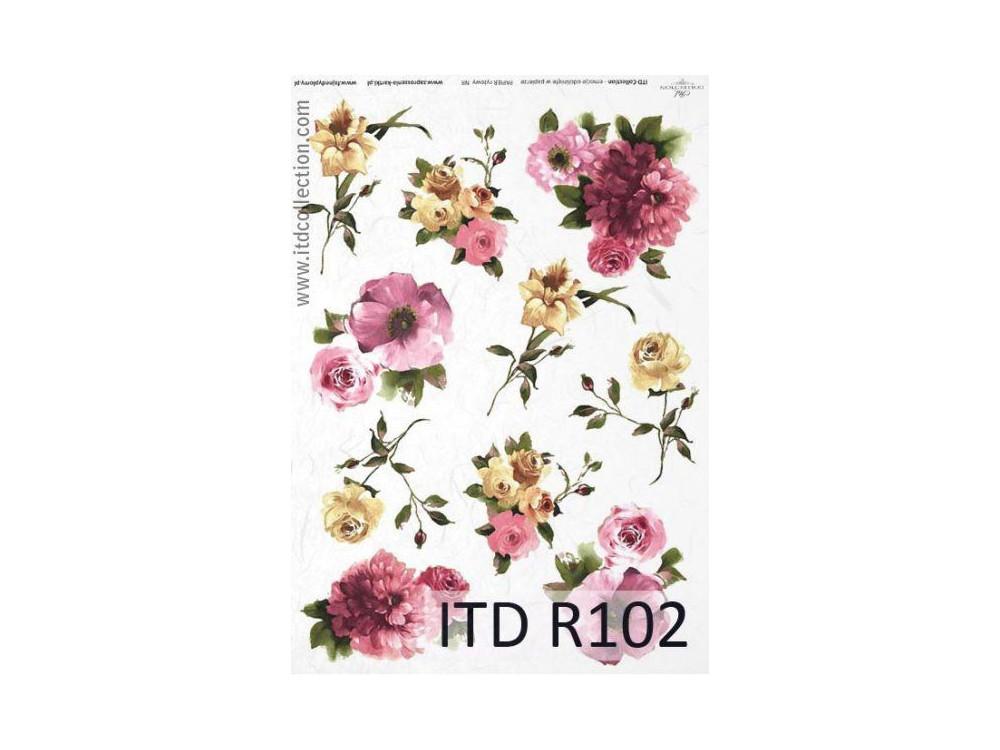 Papier ryżowy decoupage ITD R102