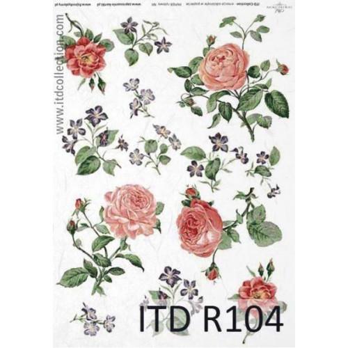 Papier ryżowy decoupage ITD R104