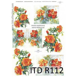 Papier do decoupage A4 - ITD Collection - ryżowy, R112