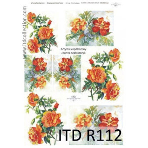 Papier ryżowy A4 decoupage R112