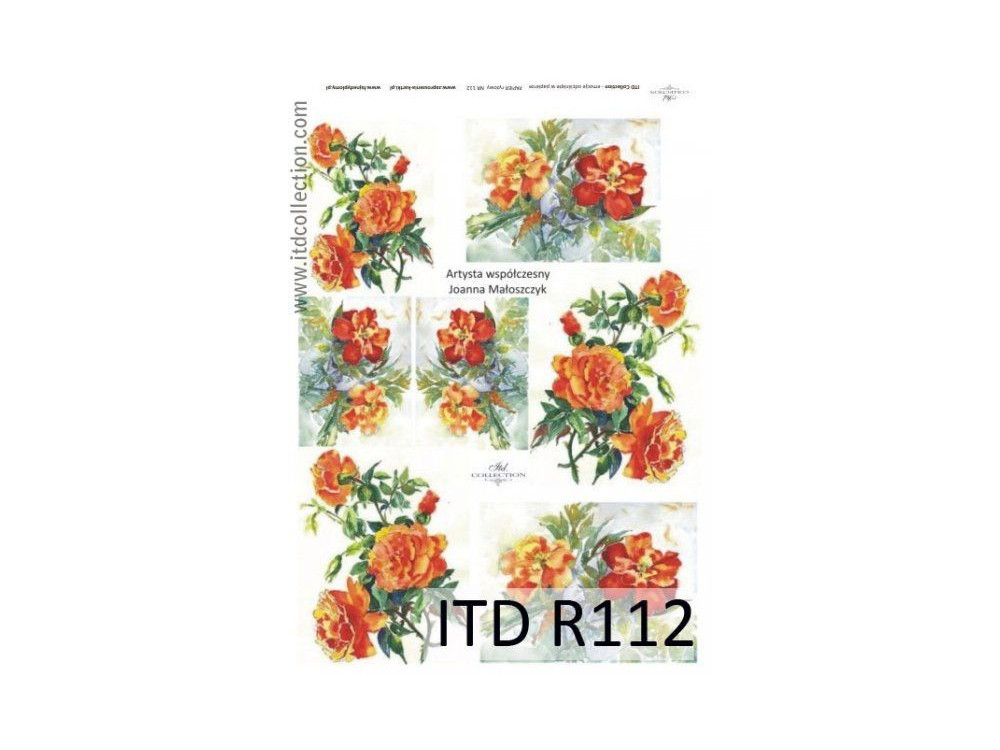 Decoupage paper A4 - ITD Collection - rice, R112