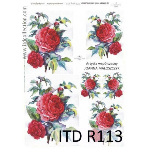 Papier ryżowy decoupage ITD R113