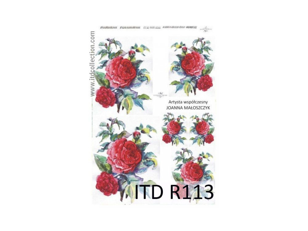 Papier do decoupage A4 - ITD Collection - ryżowy, R113