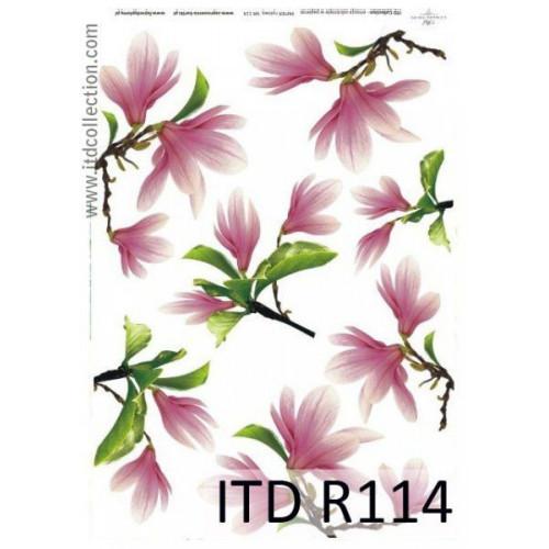 Papier ryżowy decoupage ITD R114