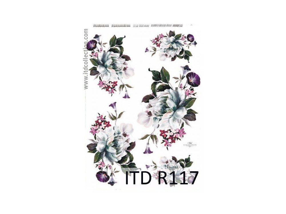 Decoupage paper A4 - ITD Collection - rice, R117