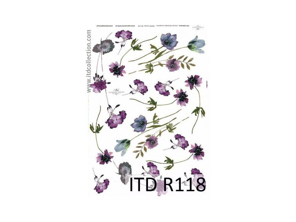Papier do decoupage A4 - ITD Collection - ryżowy, R118