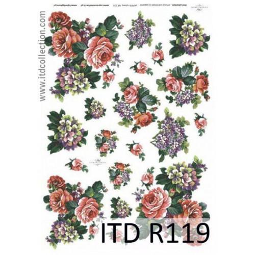 Papier ryżowy decoupage ITD R119