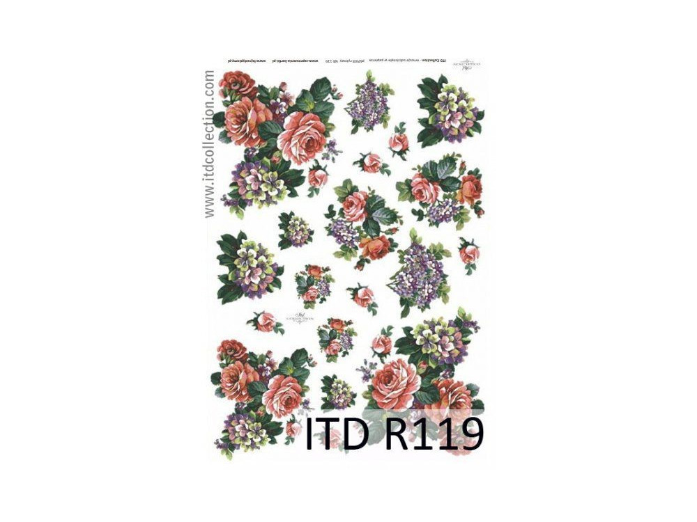 Papier do decoupage A4 - ITD Collection - ryżowy, R119