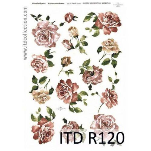 Papier ryżowy decoupage ITD R120