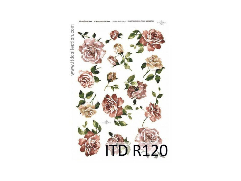 Papier do decoupage A4 - ITD Collection - ryżowy, R120