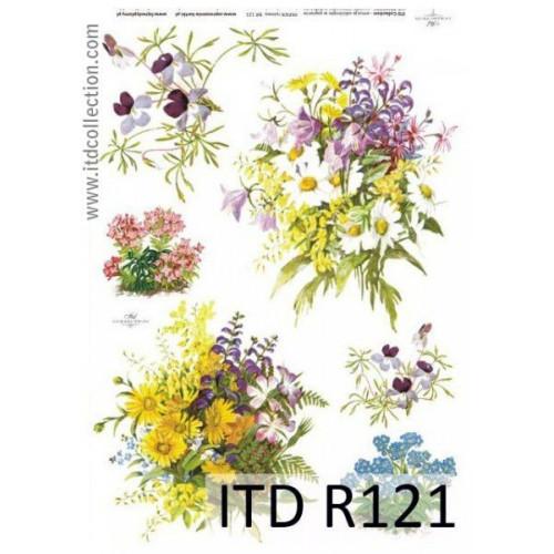 Papier ryżowy decoupage ITD R121