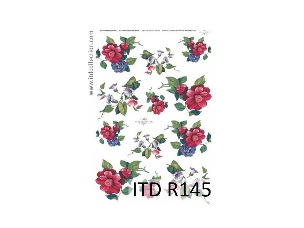 Decoupage paper A4 - ITD Collection - rice, R145