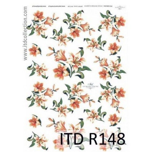 Papier ryżowy decoupage ITD R148