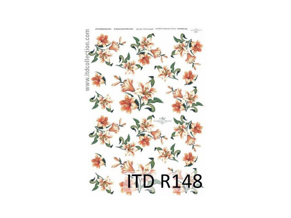 Papier do decoupage A4 - ITD Collection - ryżowy, R148