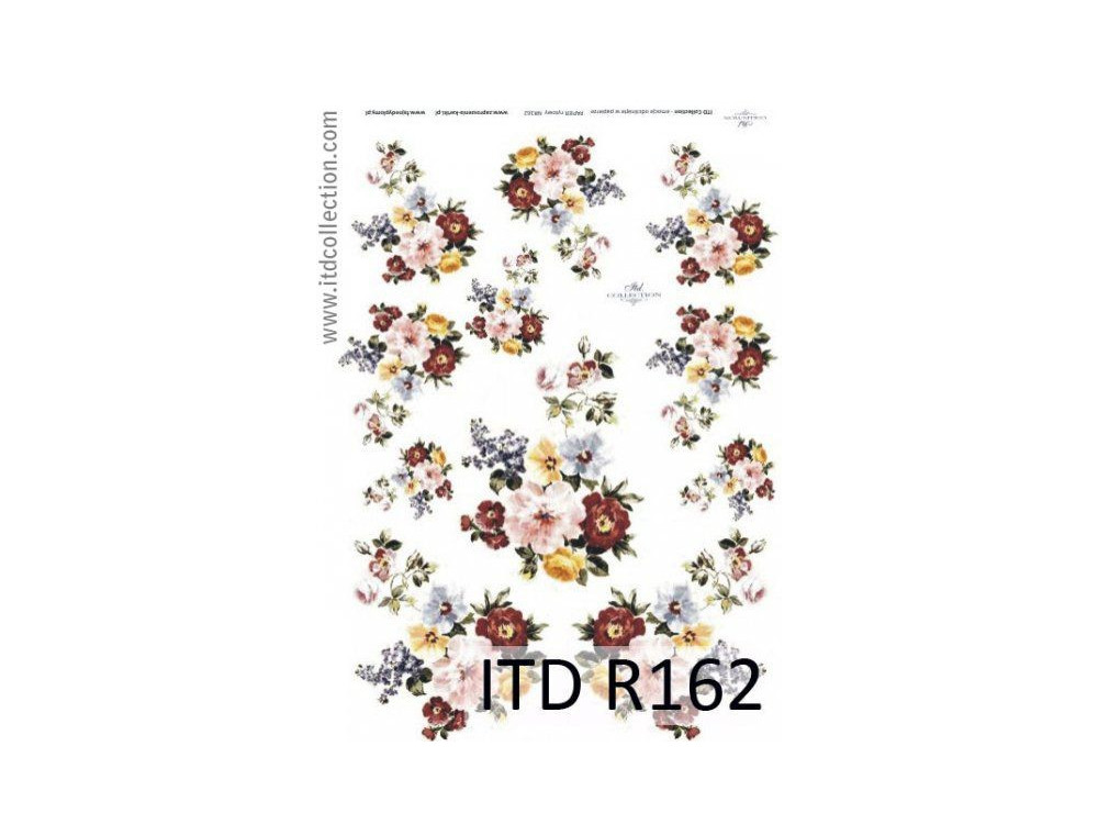 Papier ryżowy decoupage ITD R162