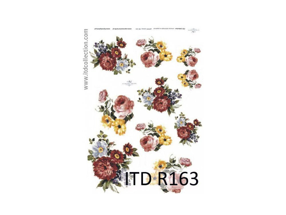 Papier do decoupage A4 - ITD Collection - ryżowy, R163