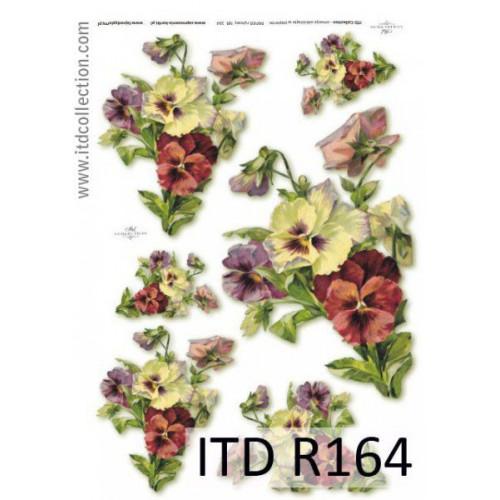 Papier ryżowy decoupage ITD R164