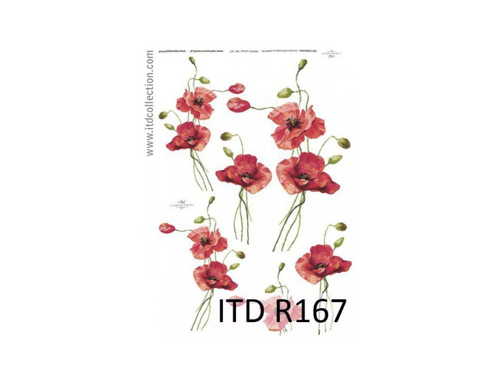 Papier do decoupage A4 - ITD Collection - ryżowy, R167
