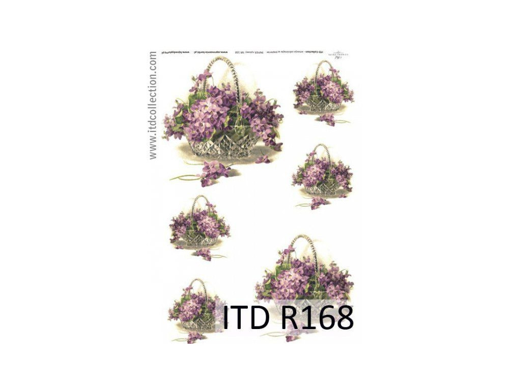 Decoupage paper A4 - ITD Collection - rice, R168