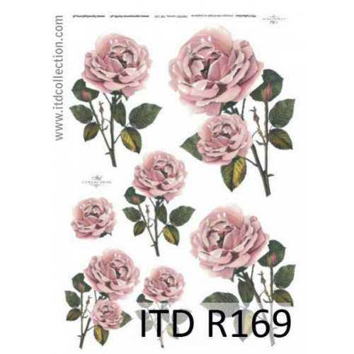 Papier ryżowy decoupage ITD R169