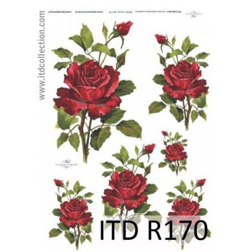Papier ryżowy decoupage ITD R170