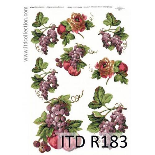 Papier ryżowy decoupage ITD R183