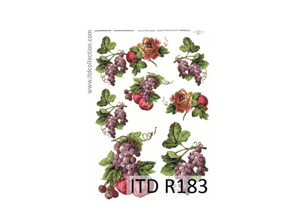 Decoupage paper A4 - ITD Collecion - rice, R183