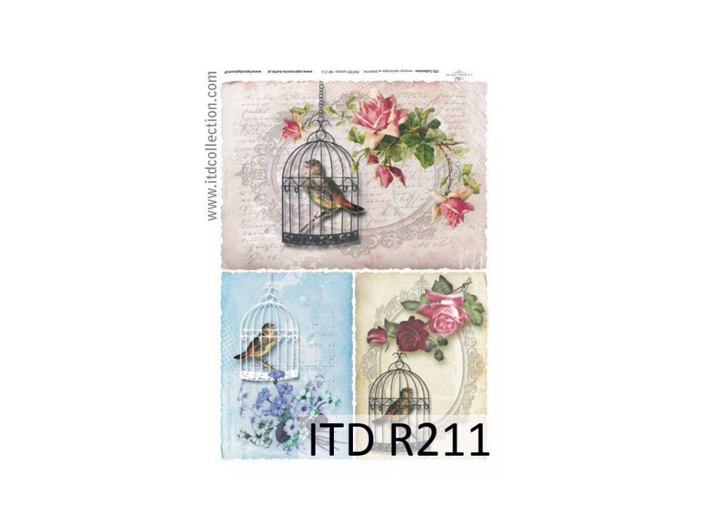 Papier do decoupage A4 - ITD Collection - ryżowy, R211