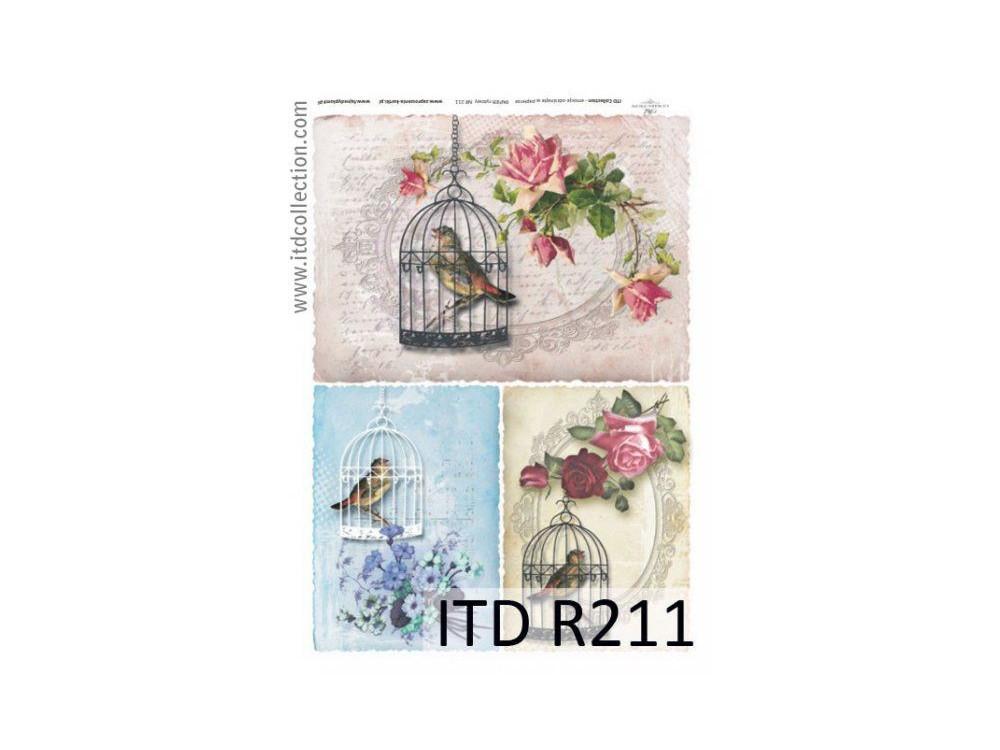 Papier ryżowy decoupage ITD R211