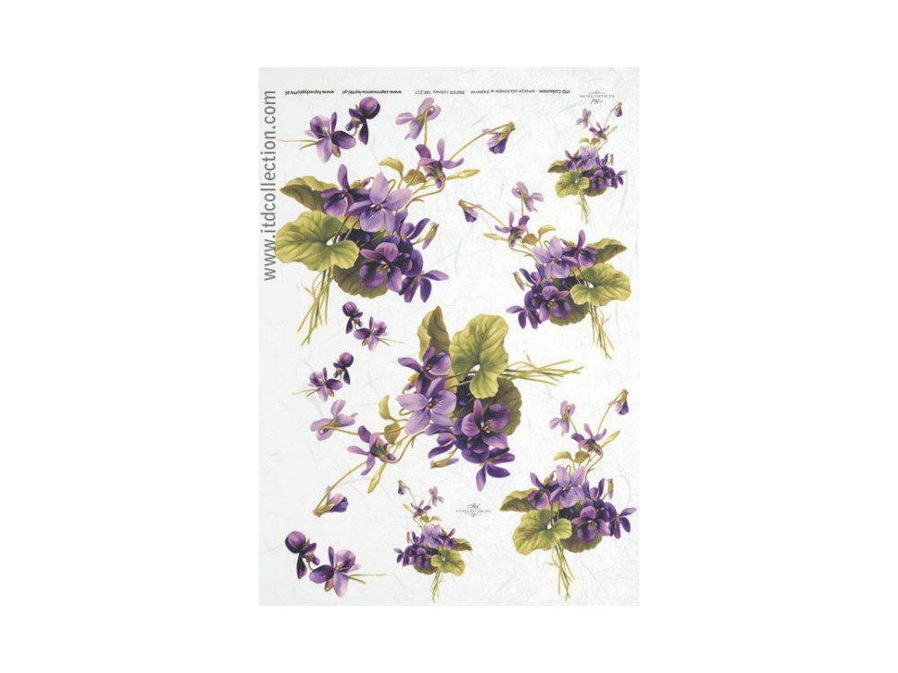 Decoupage paper A4 - ITD Collection - rice, R217