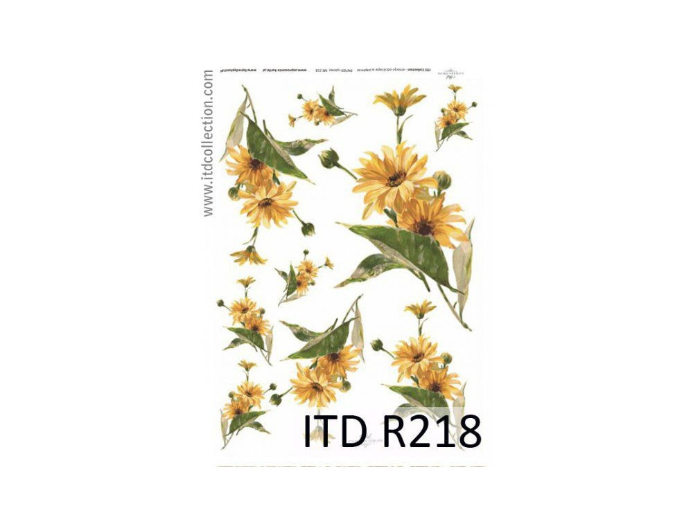 Papier do decoupage A4 - ITD Collection - ryżowy, R218