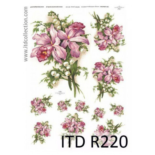 Papier ryżowy decoupage ITD R220