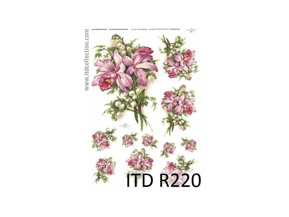 Decoupage paper A4 - ITD Collection - rice, R220
