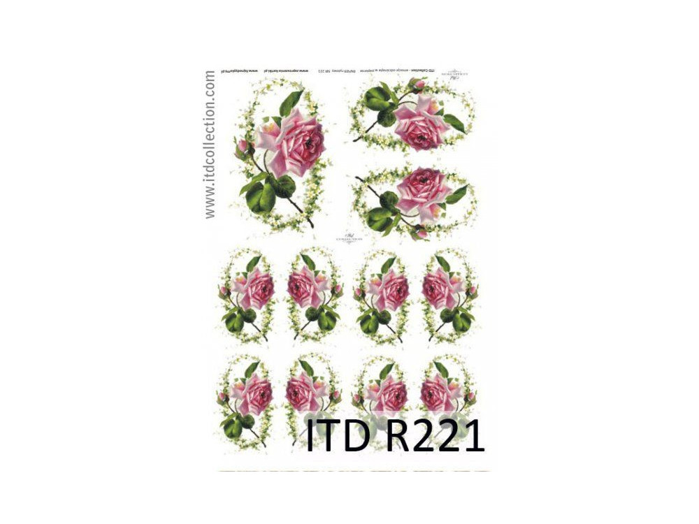 Papier do decoupage A4 - ITD Collection - ryżowy, R221