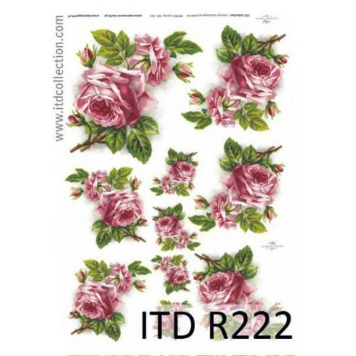 Papier ryżowy decoupage ITD R222