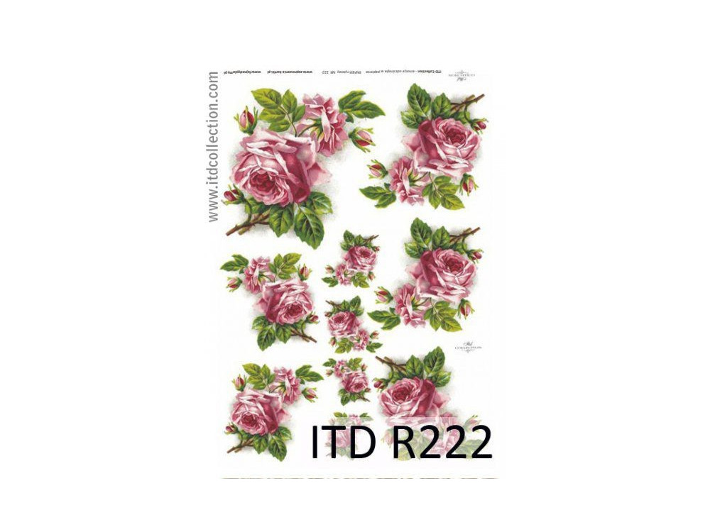 Decoupage paper A4 - ITD Collection - rice, R222