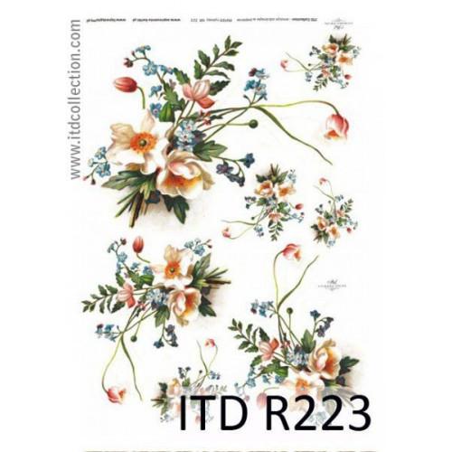 Papier ryżowy decoupage ITD R223