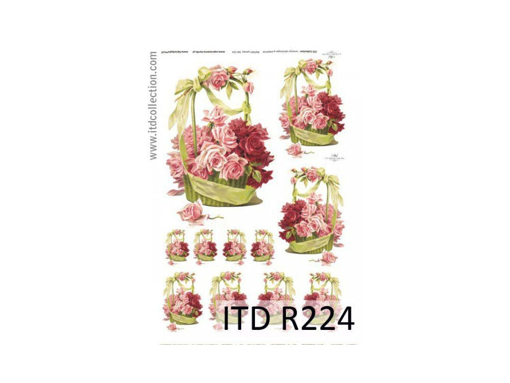 Papier do decoupage A4 - ITD Collection - ryżowy, R224