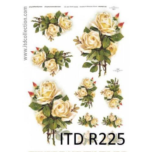 Papier ryżowy decoupage ITD R225