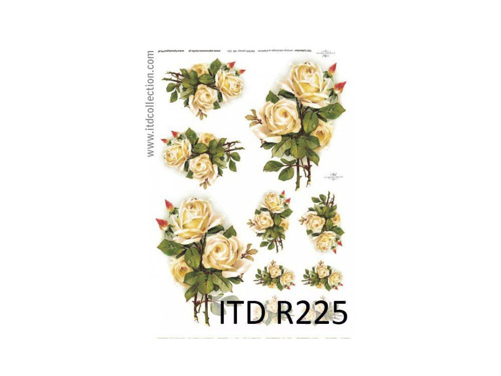 Decoupage paper A4 - ITD Collection - rice, R225