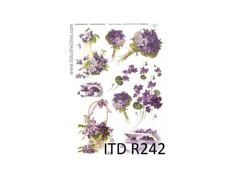 Papier do decoupage A4 - ITD Collection - ryżowy, R242