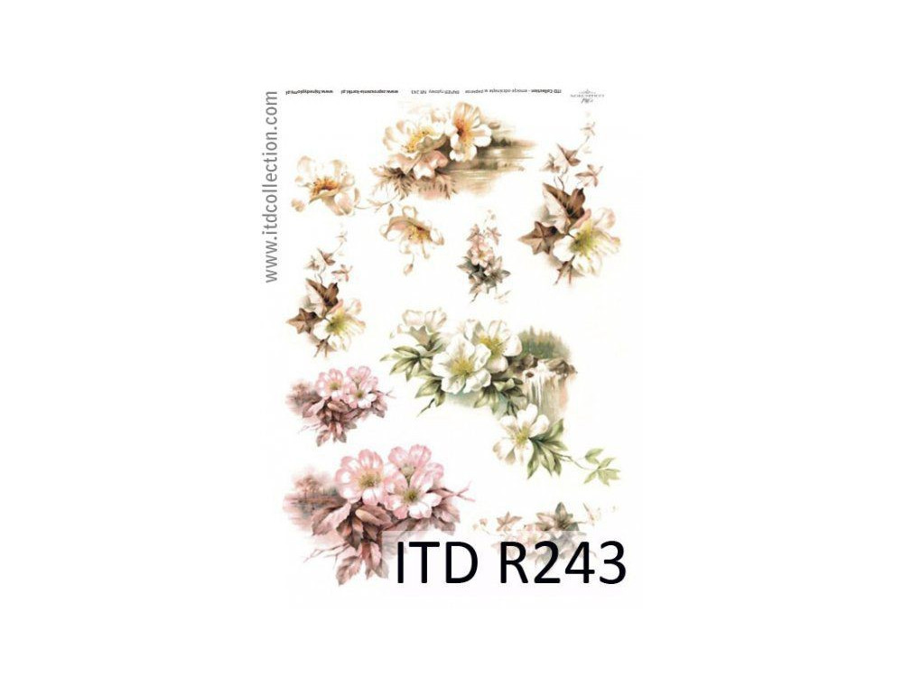 Papier do decoupage A4 - ITD Collection - ryżowy, R243